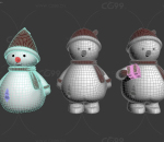 圣诞雪人存钱罐装饰品摆设节日礼物