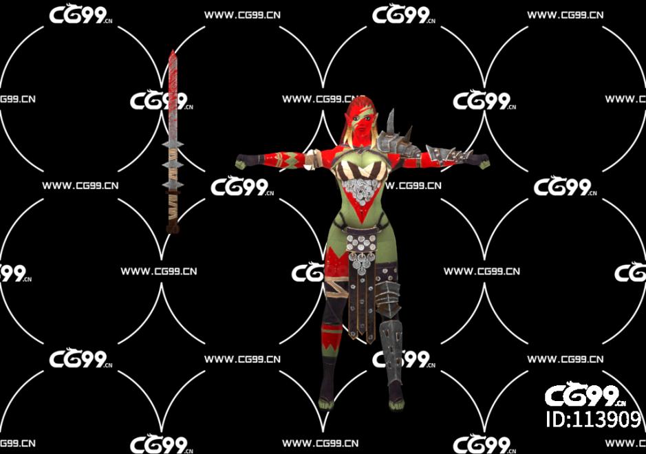 游戏模型 PBR 精美角色 女性士兵
