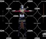游戏模型 PBR 精美角色 女性弓箭手