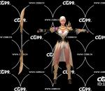 PBR 欧美 日系 游戏模型 女战士 女武士