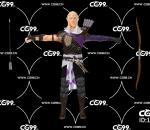 游戏模型 PBR 精美角色 弓箭 武器 男性人物