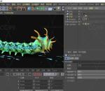 毛毛虫 带绑定 带动画 昆虫 绿色虫子