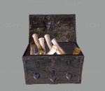 中世纪风格 魔幻装饰 道具 游戏场景 箱子 储物箱
