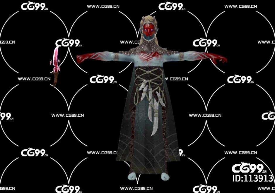 游戏模型 PBR 精美角色 邪恶恶魔 女恶魔
