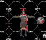 PBR 欧美 角色 游戏模型 高精度 战士