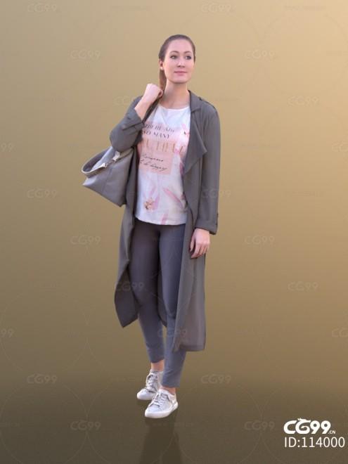 3D扫描角色 现代女性 模特