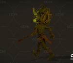 恐怖远古大法师 野蛮人 带动画 带绑定 森林绿巫师