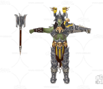 游戏模型 PBR 精美角色 战士 人物