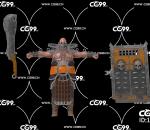 PBR 欧美 日系 游戏模型 屠夫 地狱屠夫 战士