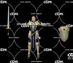 PBR 欧美 日系 游戏模型 女性 骑士 战士