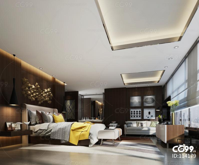 现代风格宾馆套房