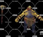 游戏模型 PBR 精美角色 怪物 石斧战士