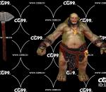 PBR 欧美 角色 游戏模型 怪物