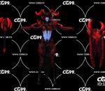 PBR 欧美 角色 游戏模型 血腥女伯爵