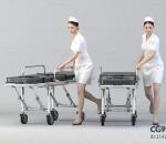 现代推车女护士