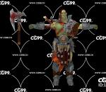 PBR 欧美 日系 游戏模型 武士 战士 绿皮恶魔