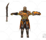 PBR 欧美 角色 游戏模型 士兵 战士