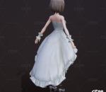 卡通 新娘 伴娘 礼服 婚礼装 婚纱 时装 白色连衣裙 结婚