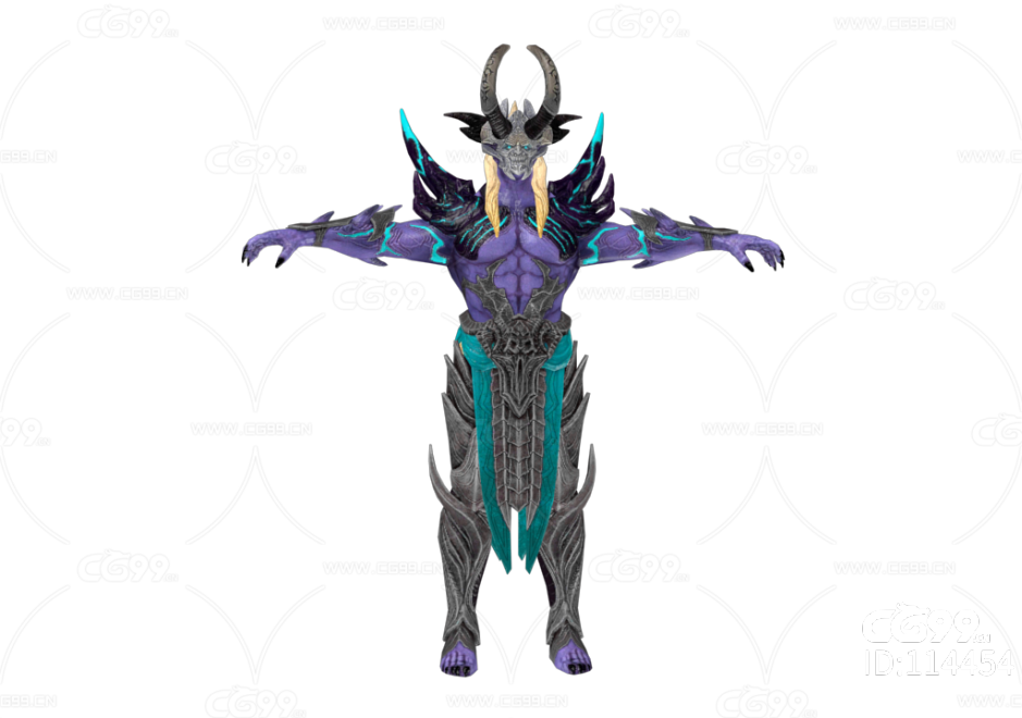 PBR 欧美 日系 游戏模型 恶魔 羊角魔头