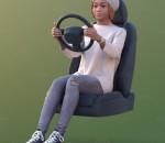 3D扫描人物角色 现代女性 驾驶状态