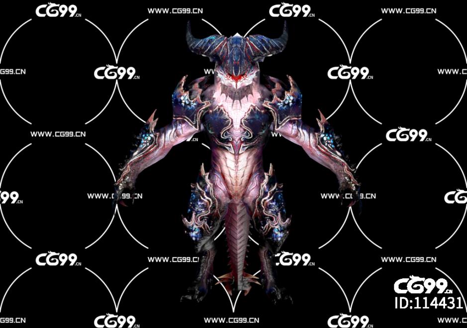 PBR 欧美 角色 游戏模型 地狱 魔族 怪物