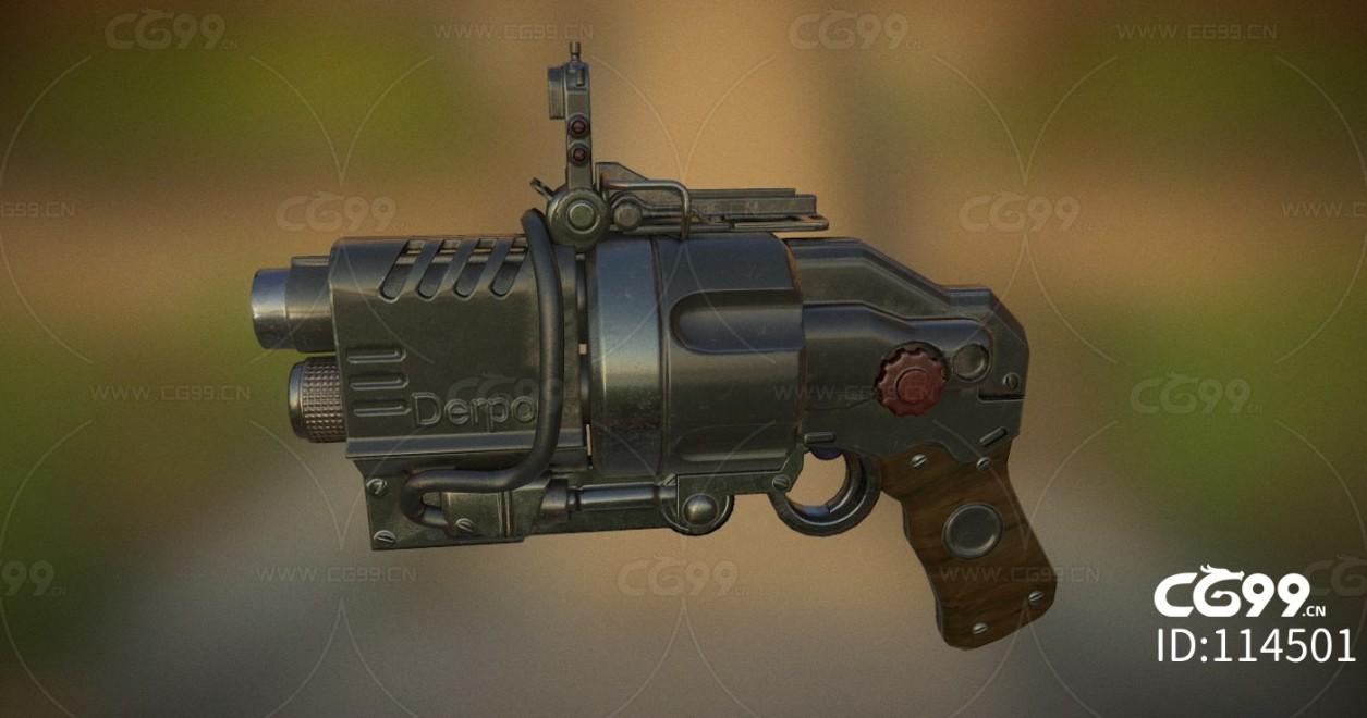次时代PBR 写实 武器 枪械 微型改装手枪