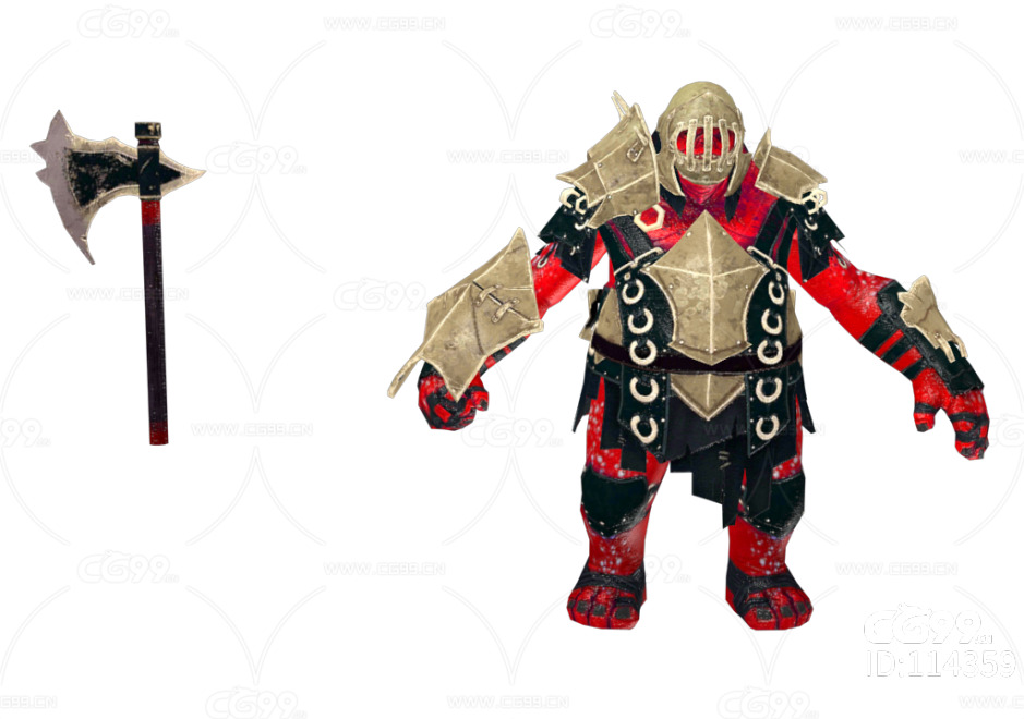 PBR 欧美 角色 游戏模型 怪物骑士