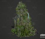 石头 瀑布 青苔 礁石 岩群 山脉 山峰 假山 大山 石块