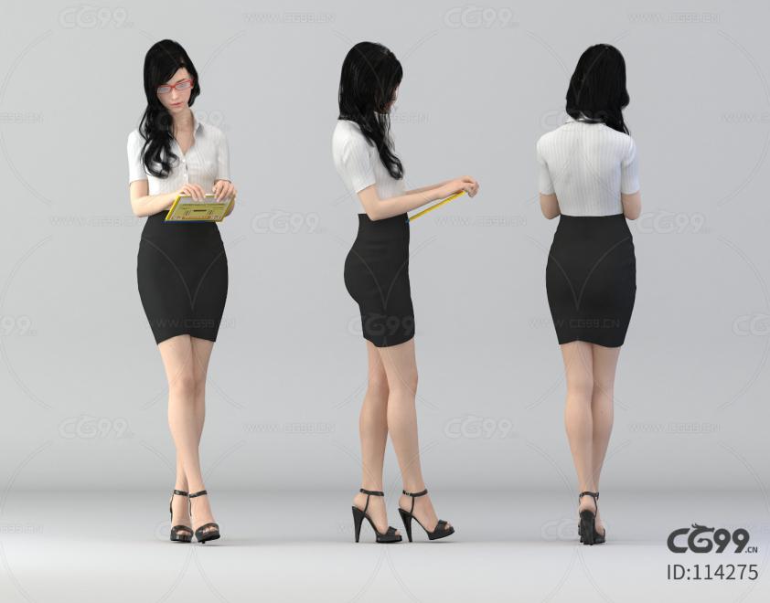 现代办公室女秘书