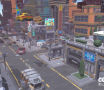 卡通 科幻城市 科技城市 未来城市 科技建筑 科幻建筑 未来