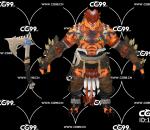 PBR 欧美 角色 游戏模型 虎族 恶虎 兽族战士