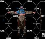PBR 欧美 角色 游戏模型 射手 弓箭手