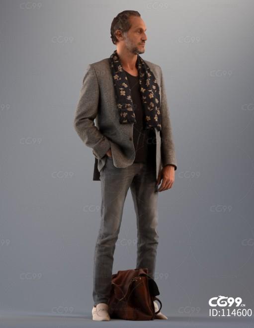3D扫描角色 写实男性 艺术男