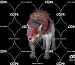 游戏模型 PBR 精美角色 恶狼 饿狼 血狼