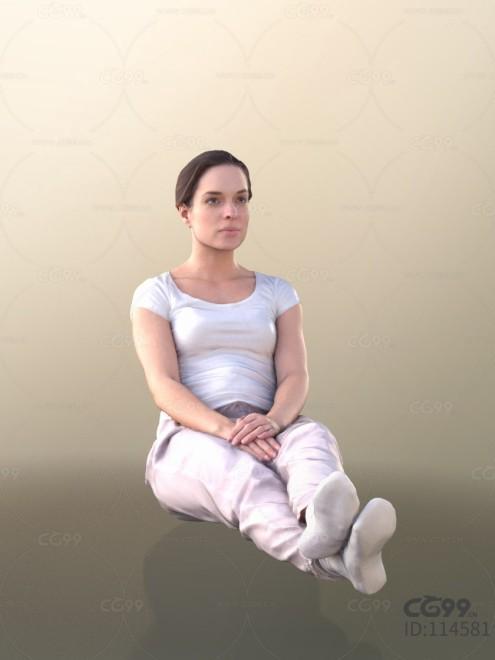 3D扫描角色 写实女性 休闲居家服