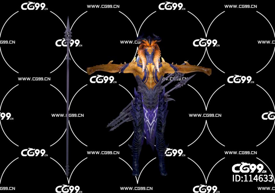 PBR 欧美 角色 游戏模型 魔幻世界 战士 魔族