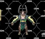 游戏模型 PBR 精美角色 牛角魔族 恶魔战士