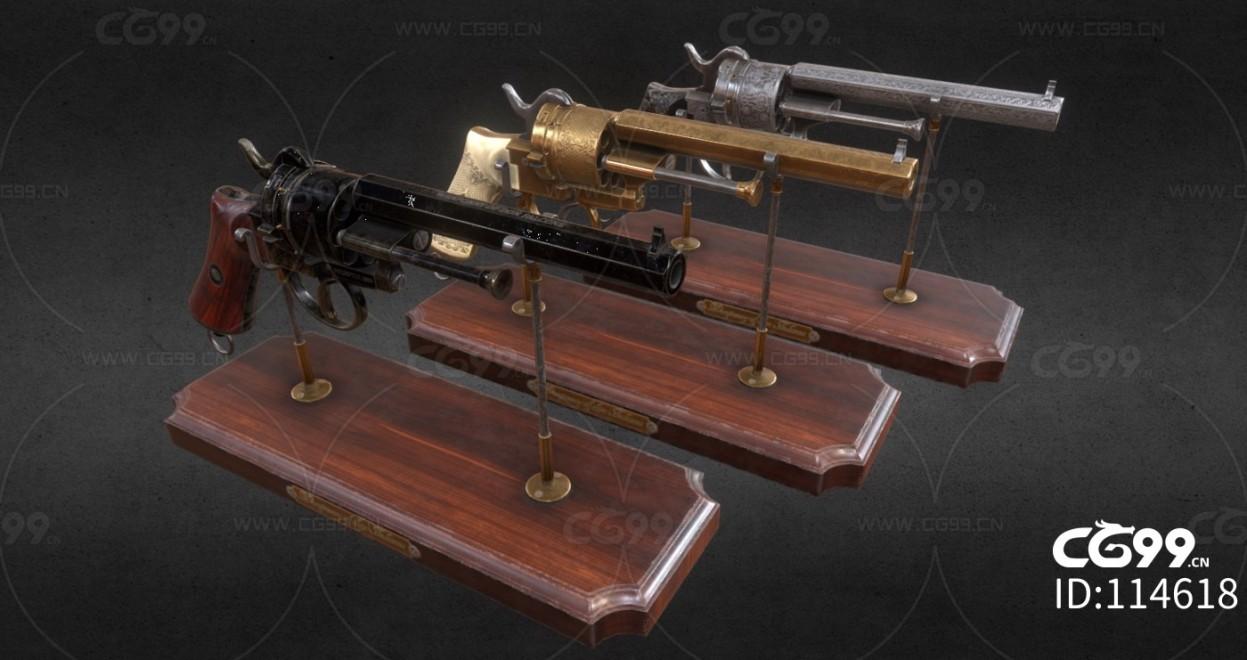 次时代PBR 写实 武器 枪械 复古手枪合集