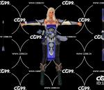 游戏模型 PBR 精美角色 金发精灵 弓箭手 战士