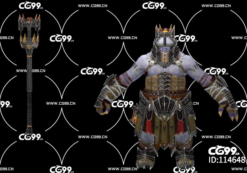 PBR 欧美 日系 游戏模型 魔族小兵 魔宫护卫 侍卫