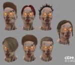 次时代PBR 写实 人形怪物 幻想 僵尸头部合集