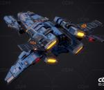 次世代 PBR 宇宙飞船 科幻护卫舰 太空飞船 SCIFI