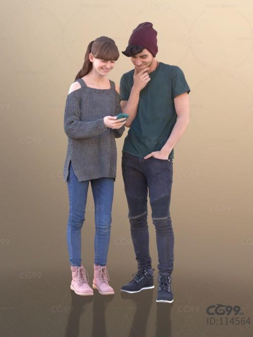 3D扫描角色 写实人物 休闲服饰 情侣