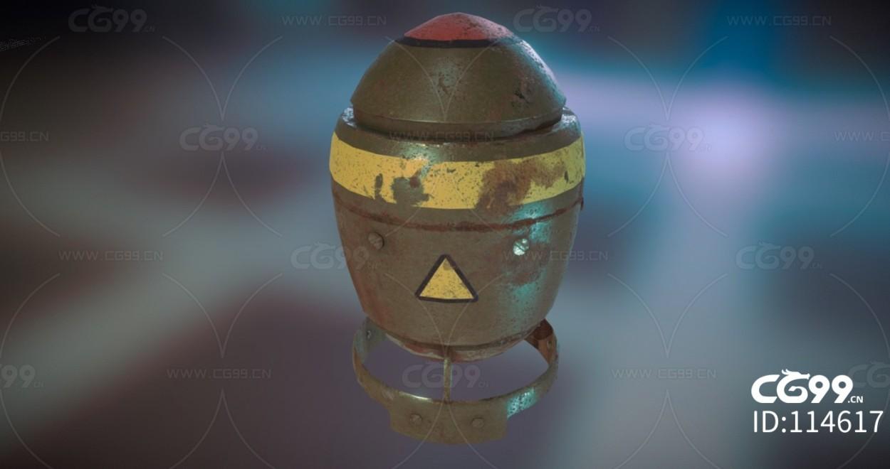 次时代PBR 写实 武器 炮弹 小胖子原子弹