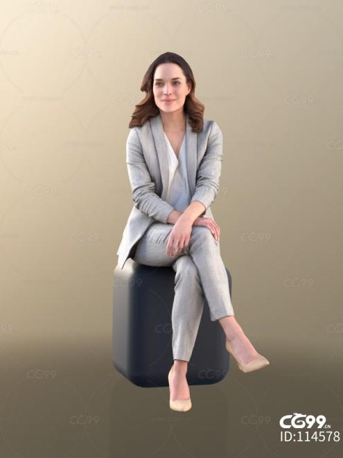 3D扫描角色 写实女性 西装 BOSS