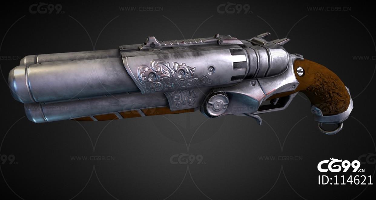 次时代PBR 写实 武器 枪械 复古手枪
