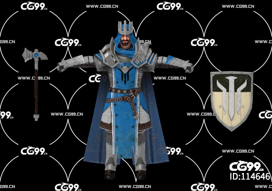 PBR 欧美 日系 游戏模型 王国骑士