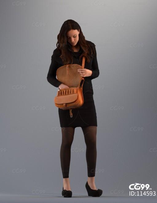 3D扫描角色 写实女性 上班族