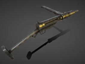 次时代PBR 写实 科幻 武器 枪械 MK2冲锋枪