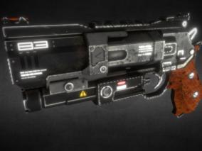 次时代PBR 写实 科幻 武器 枪械 激光手枪